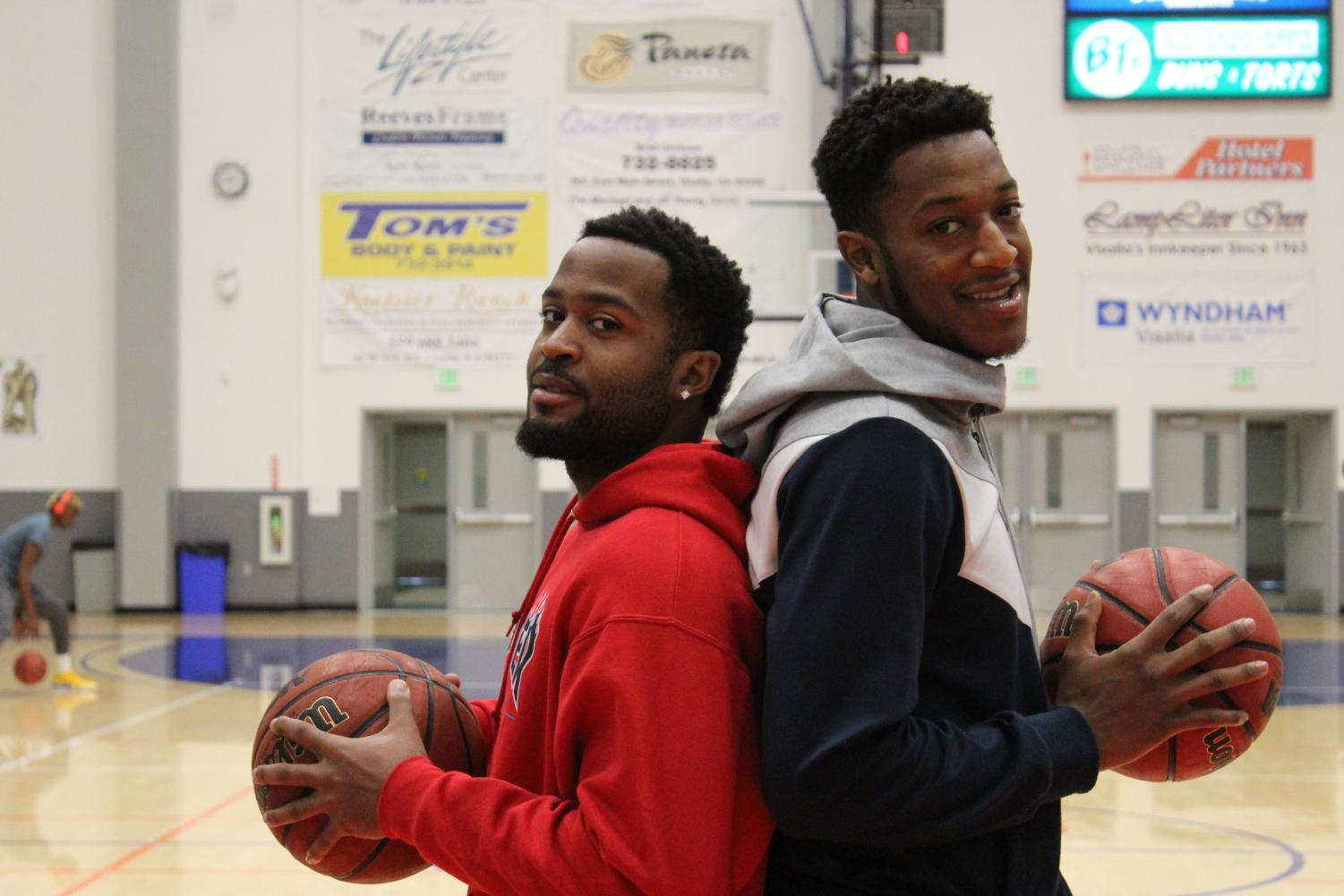 Keshawn Gibbs and Jarell Holmes play basketball together on the COS Men's Basketball team, but their relationship goes deeper than teammates. They're cousins who share a deep love for the sport and they look forward to a prosperous season.