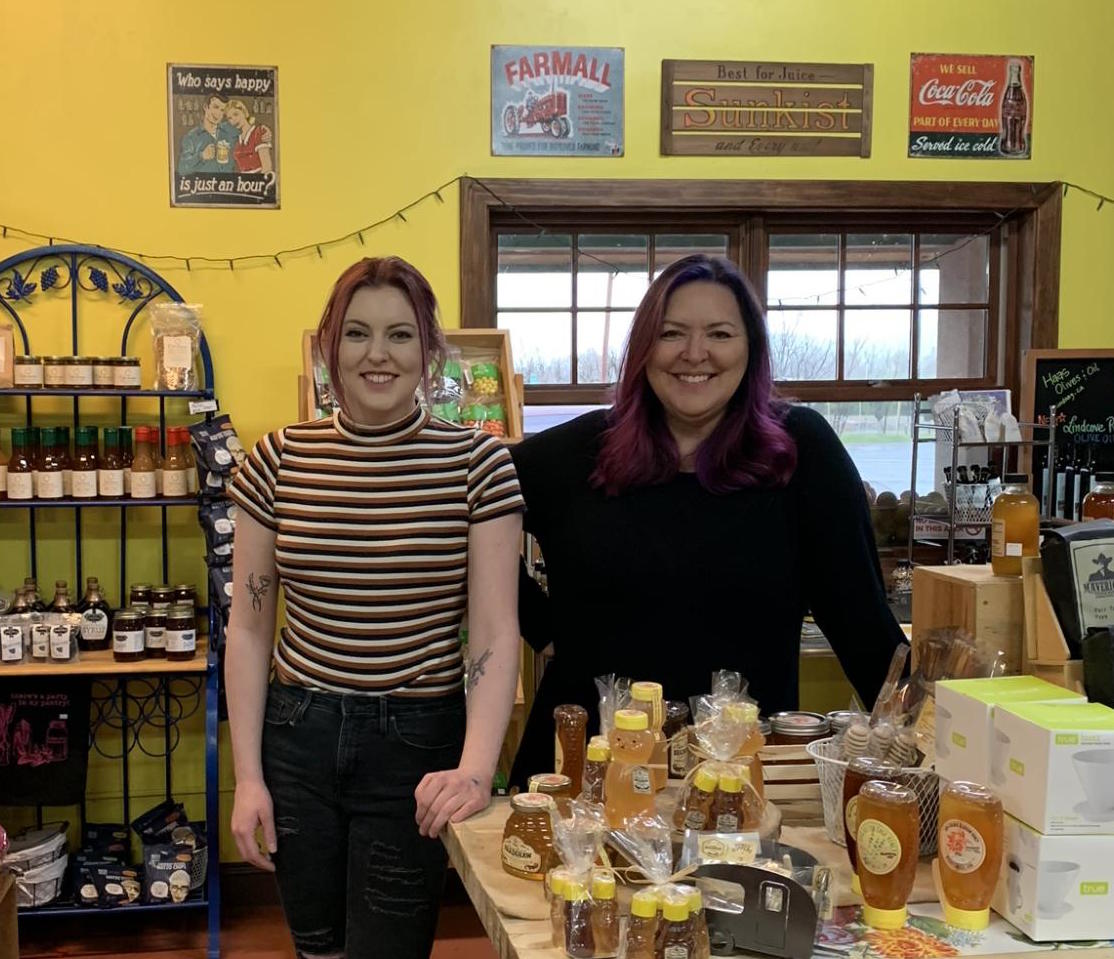 Sophie Kirkpatrick (left) and Karin Kirkpatrick (right) pose in their store Main Squeeze Market.