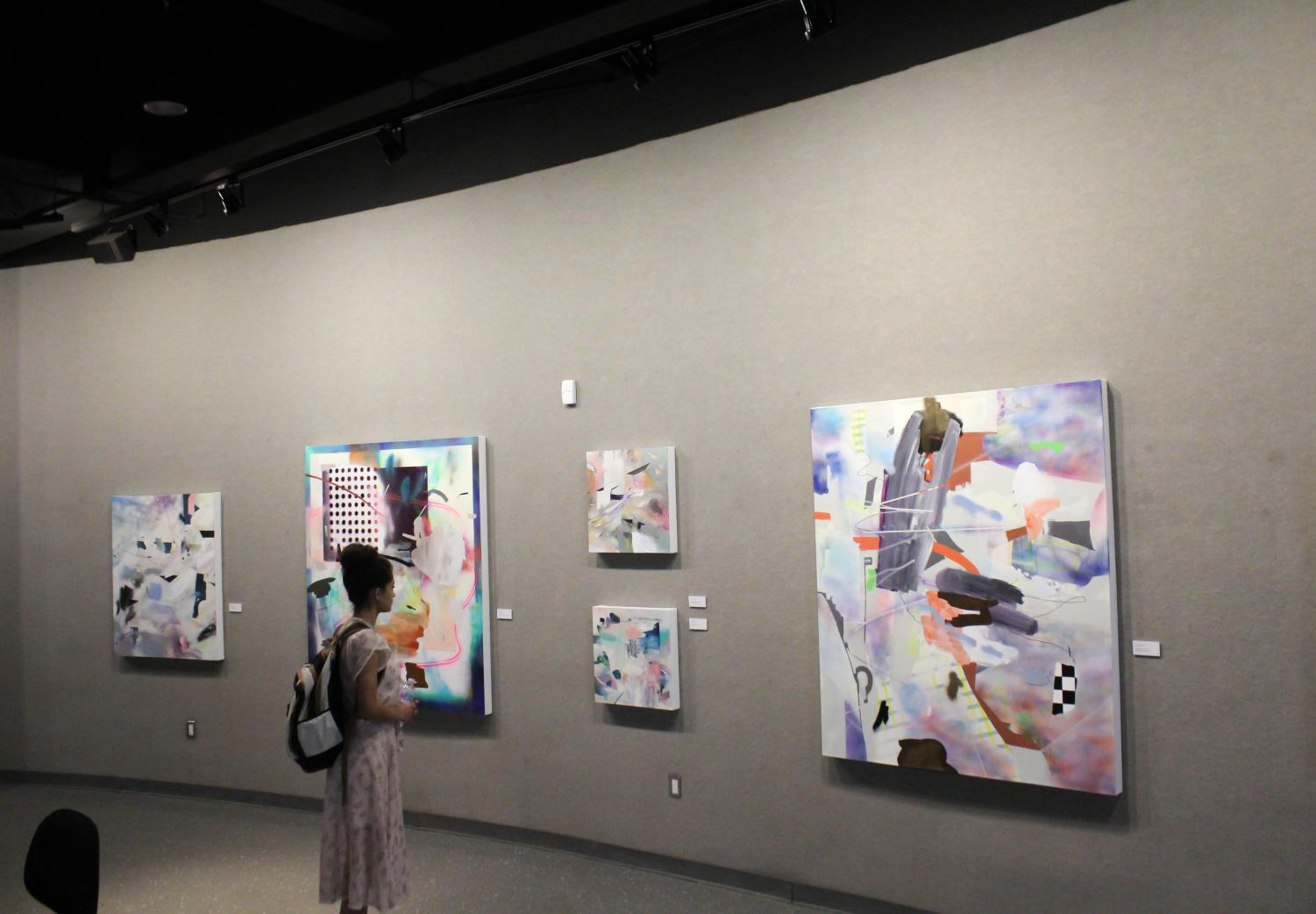 Students' art are always displayed for anyone to see in the Kaweah building.
