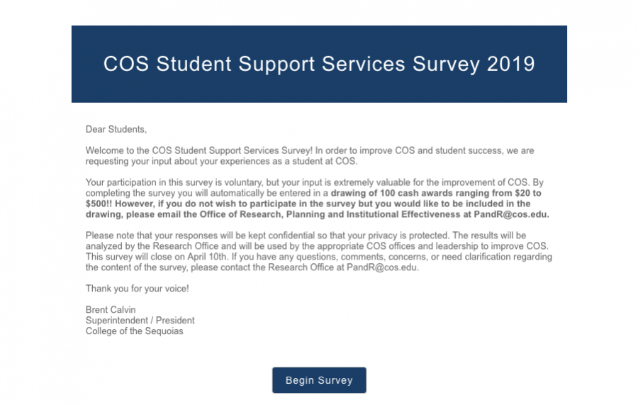 COS+Encourages+Students+to+take+2019+Student+Survey