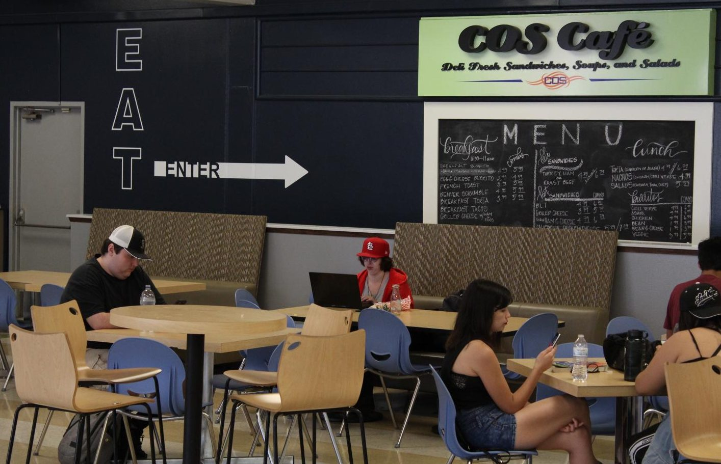 COS Cafe offers a food and rest area on the Visalia campus; however the room can get crowded during peak times. COS Cafe hopes to ease the crowds with online ordering.