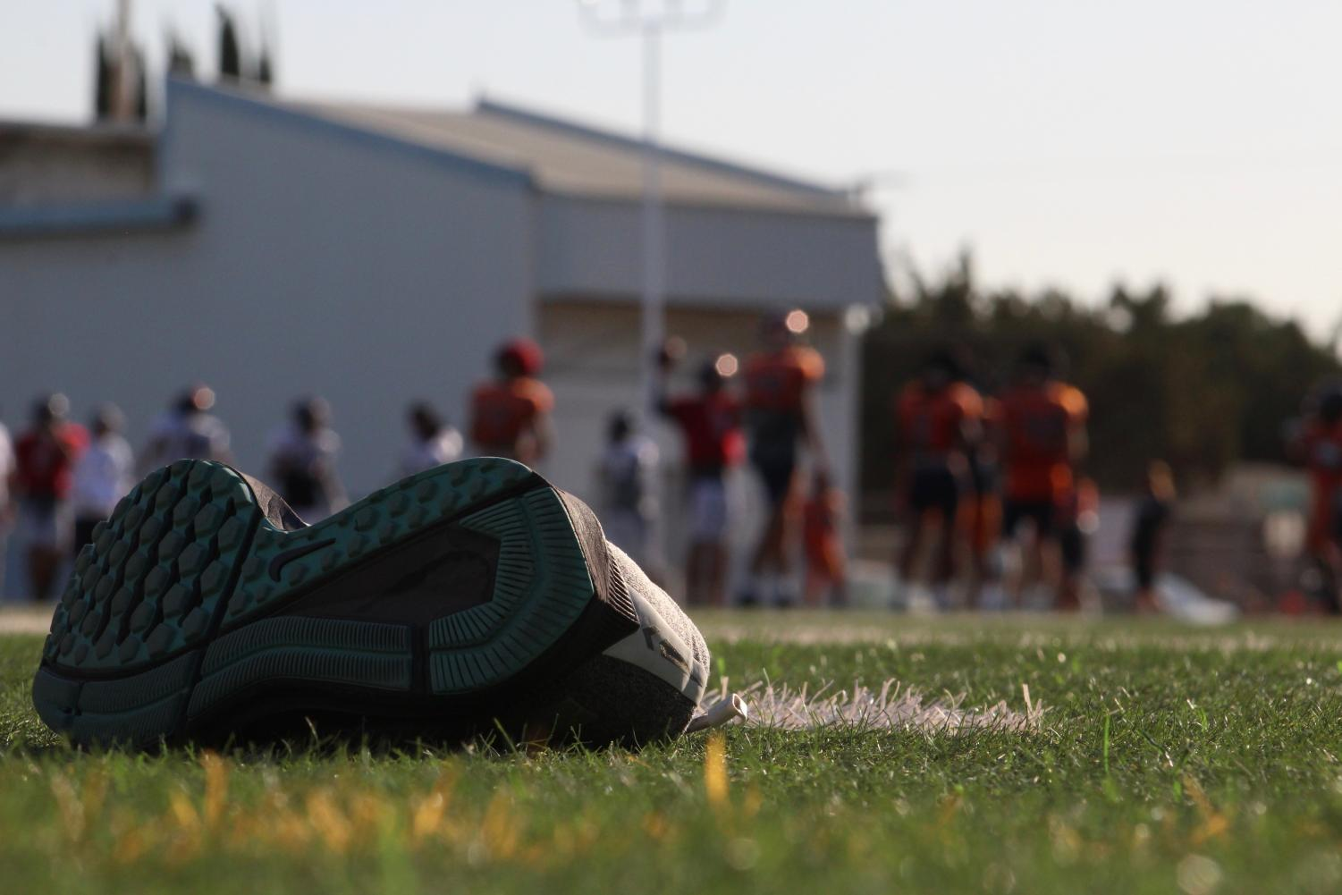 Football continues to practice with shoes off after the loss at Chabot.