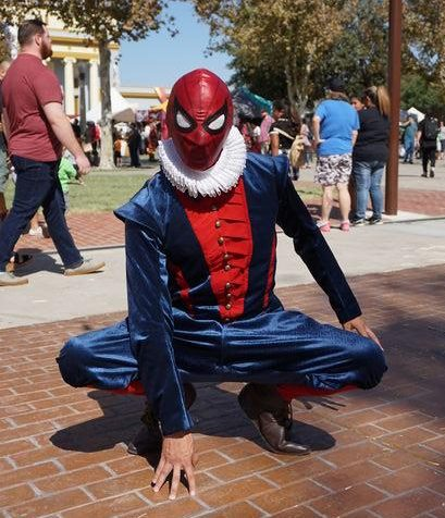 Your friendly neighborhood web slinger at the 41st annual Renaissance of Kings Faire held in Hanford this past weekend Oct. 5-6.
