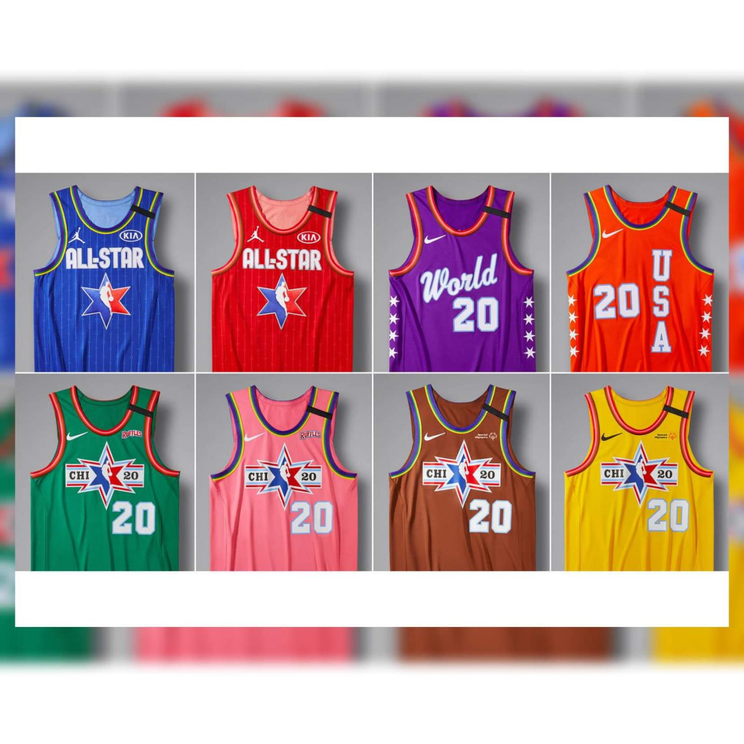 Uniforms for the Allstar Weekend Festivities coming up Feb. 15 & Feb. 16