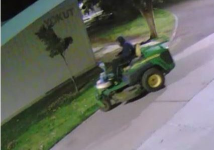 The suspect taking John Deere equipment. Photo provided by the COS District Police.
