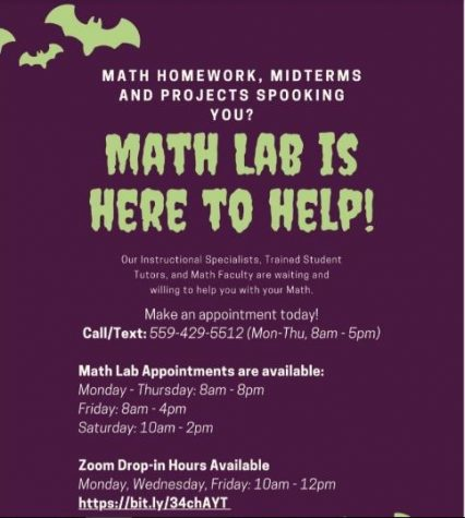 COS Math Lab Open For Help