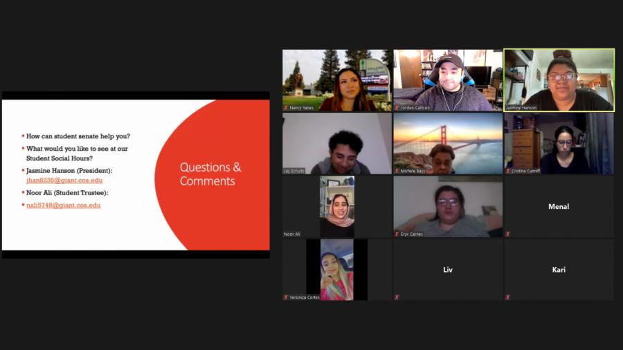 COS Hosts Zoom Social Hour