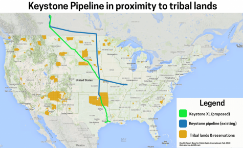 Keystone Pipeline in proximity to tribal lands