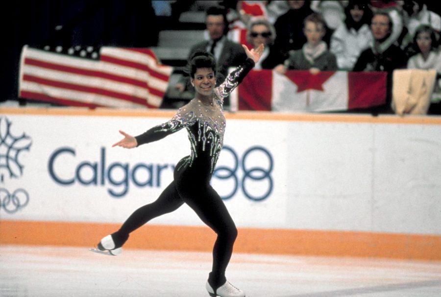 Debi Thomas at the 1988 Winter Olympics.