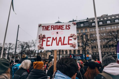 Protest in Stockholm, Sweden: The future is female.