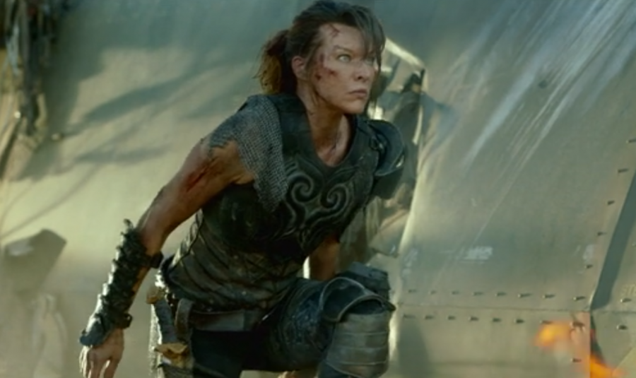 Milla Jovovich in a scene from 'Monster Hunter'