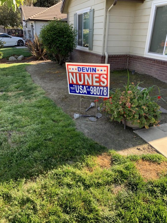 Nunes yard sign