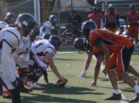 Practice run between COS football team