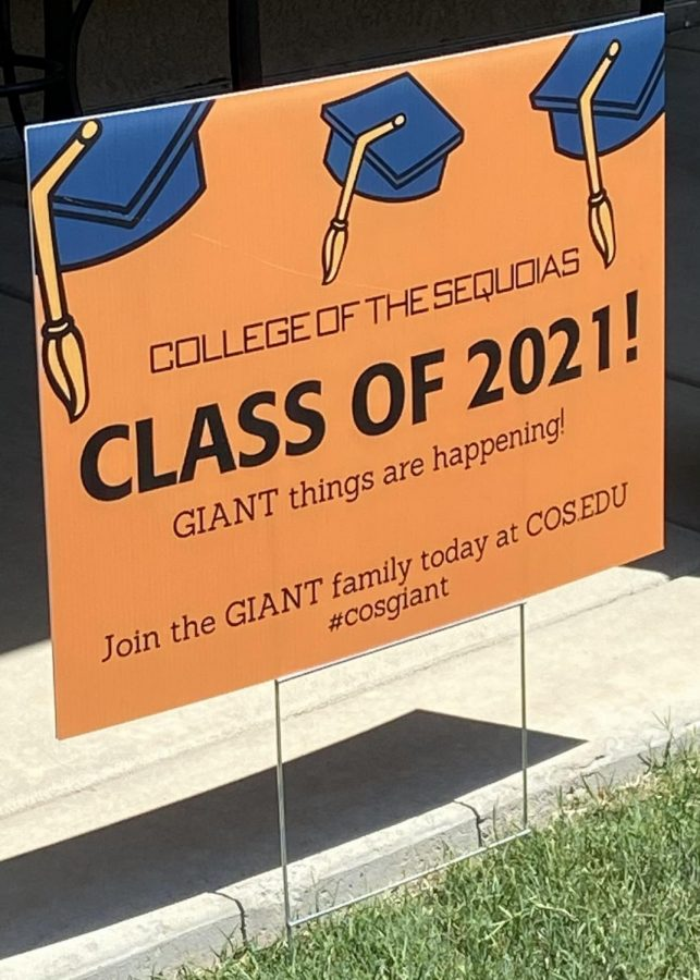 Photo of the yard sign students received at the event