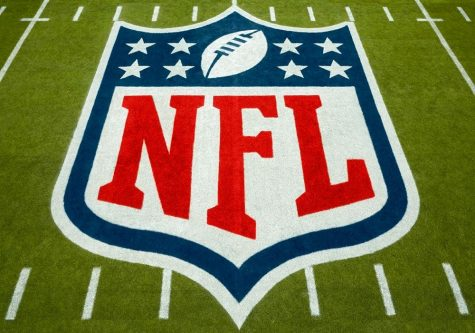 NFL logo on field