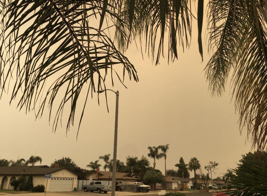 Smoke Fills the Sky of Tulare