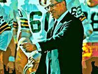 Coach Vince Lombardi leading his Super Bowl Winning Green Bay Packers